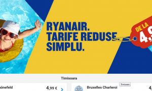 Oferta Ryanair: bilete de avion la doar 4,99 euro