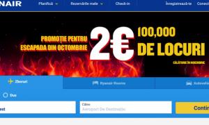 Promotie Ryanair: bilete de la doar 2 euro