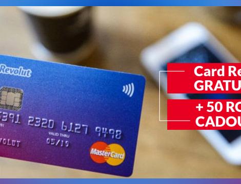 Promotie Revolut (cardul de calatorii): Card Standard Gratuit + 50 RON Cadou